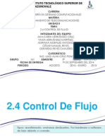 2.4 Control de Flujo