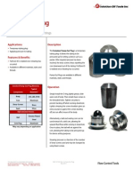 Pump Out Plug Technical Datasheet