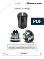 Pump Out Plug Operating Instructions