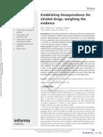 Drug Delivery Inhalation Bioequivalence[1]