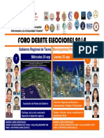Foro Debate Elecciones Tacna 2014