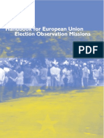 Handbook for European Union Election Observation Missions