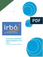 Plan de Gobierno Irbó AED - 2014
