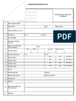Employee Personal Files Checklist
