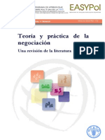 Teoría de La Negociación- FAO