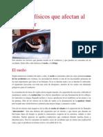 Factores Físicos Que Afectan Al Conductor