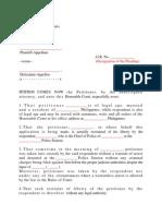 Sample Petition for Writ of Habeas Corpus