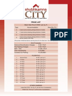City Price List