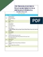 Tentatif Program Kursus Kepimpinan Kokurikulum