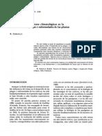 INcidencia de Los Factores Climatologicos en La Evolucion de Plagas Yenfermedades de Las Plantas