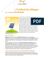 Bijli Ghar to Electrify Villages in Remote Areas