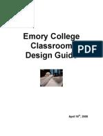 Classroom Design Guidelines