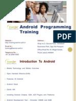 Android Programming Techno Soft Mumbai