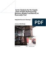 Barrier Analysis for the Supply Chain of Palm Oil Processing Biomass (Empty Fruit Bunch) as Renewable Fuel