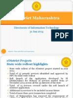 Maharashtra EDistrict Presentation for EGov Conf 30-31 Jan 14