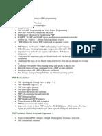 PHP Syllabus