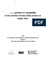 An Exploration of Sustainablility in the Provision of Basic Urban Services in Indian Cities