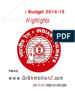 Railway Budget 2014 Highlights