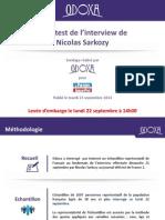 Odoxa Pour Le Parisien Aujourdhui en France Post Test de Linterview de Nicolas Sarkozy 22 Septembre