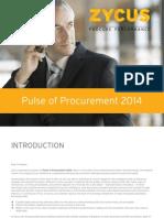 Pulse of Procurement 2014 ZYCUS