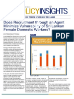Policy Insights - Does Recruitment through an Agent Minimize Vulnerability of Sri Lankan Female Domestic Workers?