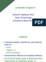 Cultural Beliefs Arnett