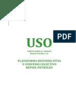 Plataforma X Convenio Colectivo de Repsol Petroleo