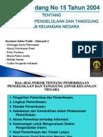 Resume UU No.15 Tahun 2004