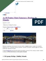 Pontes Famosas e Bonitas Pelo Mundo _ HostelBookers (PT) Blog