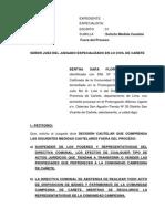 Escrito Medida Cautelar Fuera Del Proc Mauro