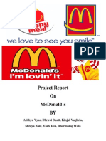 McDonald Strategic management