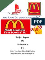 McDonald Strategic management