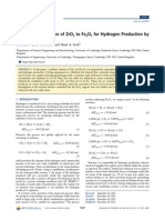 (N-type, P-type)the Effect of Addition of ZrO2 to Fe2O3 for Hydrogen Production by Chemical Looping