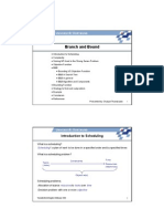 Scheduling -Branch and Bound Method