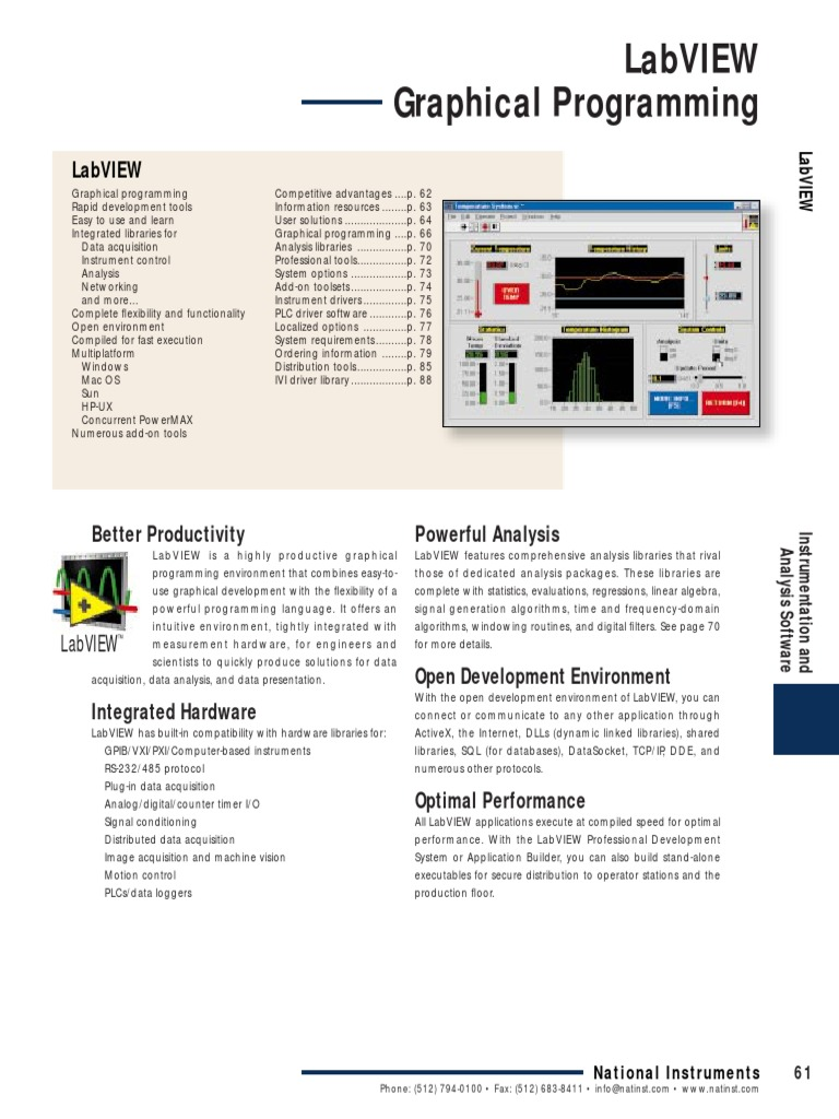 LabVIEW pdf Graphical Programming | Spectral Density | Eigenvalues
