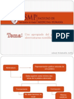 Diapositivas de Lenguaje - Abreviaturas