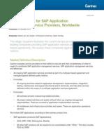 Gartner - Magic Quadrant for SAP Application Management Service Providers Worldwide (23 Oct 2012)