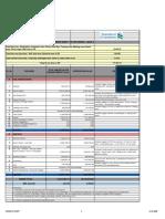 1st Floor Valuation Cost Summary Sheet
