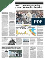 Cumbre de La ONU Busca Acelerar Las Negociaciones Contra El Cambio Climático