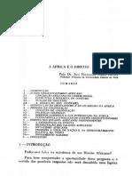 A África e o Direito - José Fernando Nunes Barata