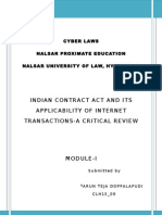 Indian Contract Act and Internet Transactions