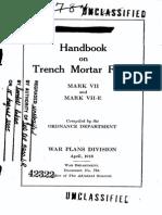 ODN 784 Handbook on Trench Mortar Fuzes 1918