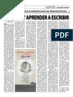 ENSEÑAR Y APRENDER A ESCRIBIR (Oja x Oja 2014-09-22)
