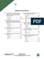 Public Policy Polling (D) poll in MI SEN 9.23.14