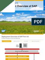 OpenSAP Fiori1 Week 02 SAP Fiori UX Deployment