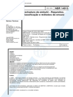 NBR 14913 - Fechadura de Embutir