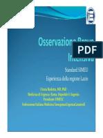 OBI. Standard SIMEU e Modello Applicativo Nel Lazio. Dott.ssa Barletta