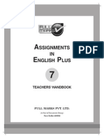 Assignments in English Plus 7 Th