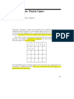 16073 Playfair Cipher Examples