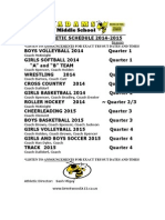 Ams Athletic Schedule Annual 2014-2015